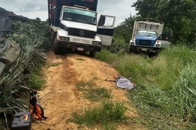 Campesino muere aplastado por camión piñero en Rodríguez Clara