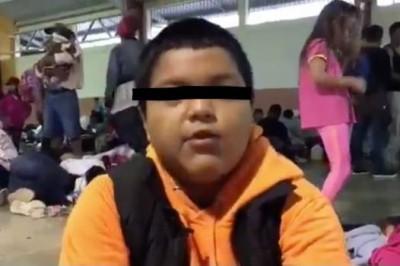 'Voy a seguir hasta llegar', dice niño migrante detenido en cruce a México (+VIDEO)