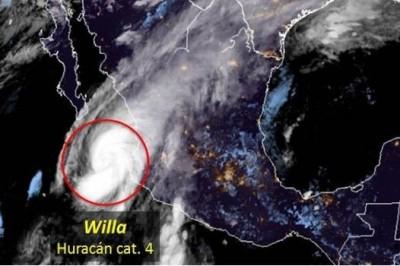Huracán 'Willa' tocará tierra este martes en Sinaloa: SMN