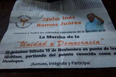 Petroleros jubilados alistan marcha en Poza Rica