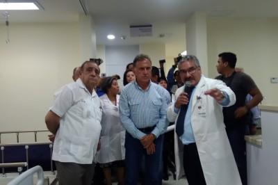 Después de nueve años, inauguran obras en Hospital Regional de Poza Rica