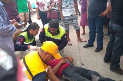 Grave motociclista tras choque en Tierra Blanca