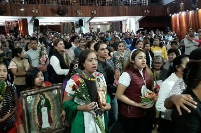 Se reporta saldo blanco en Xalapa tras peregrinación de la Virgen de Guadalupe