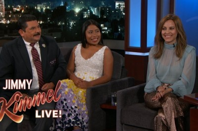 Yalitza Aparicio llega a todo Hollywood con entrevista en Jimmy Kimmel (+VIDEO)