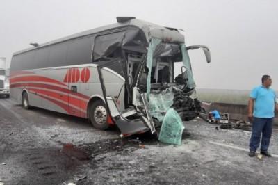 Accidente de ADO en autopista Cosamaloapan a Isla (+FOTOS)