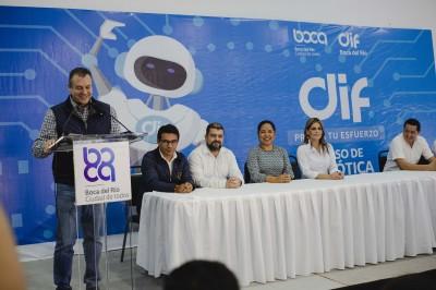 Boca del Río, el único municipio del país con cursos gratuitos de robótica avanzada: Morelli