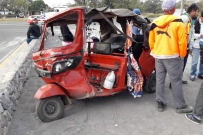 Accidente en carretera federal deja como saldo un lesionado (+Fotos)