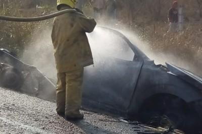Una persona calcinada y daños cuantiosos, saldo de accidente en Cuitláhuac (+FOTOS)
