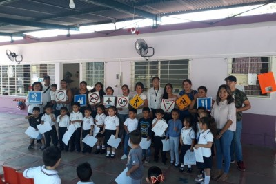 Inculca Tránsito Estatal cultura vial en Poza Rica