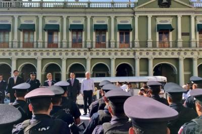 Inicia Xalapa reforzamiento de seguridad; suman fuerzas policía municipal, estatal y marina