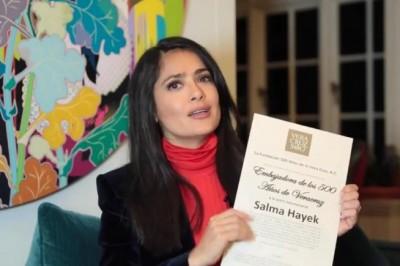Salma Hayek promueve Veracruz