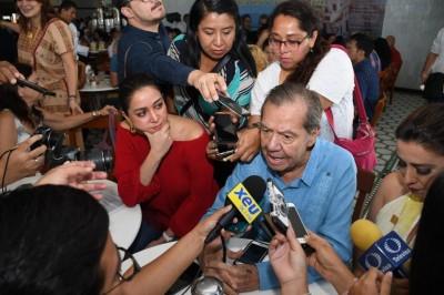 Arriba Muñoz Ledo a Veracruz por festejos de los 500 años