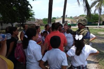 Elemento de Seguridad detienen a presunto pederastia en primaria
