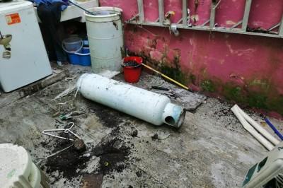 Perro tiró tanque de gas y causa flamazo en vivienda en Xalapa