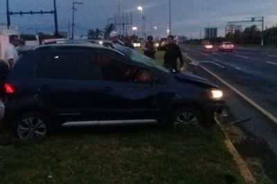 Sufre fatal accidente conductor de automóvil en bulevar la Riviera
