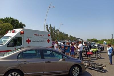 Una persona herida dejó accidente de transito en carretera Veracruz-Medellín