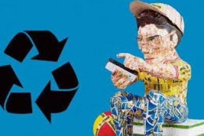 Combinan arte y reciclaje
