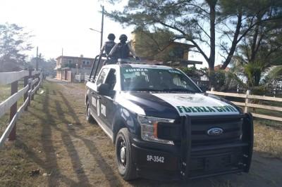 Despliega SSP operativo de vigilancia en Vega de Alatorre