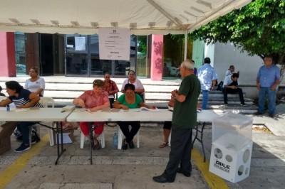 Se registra baja afluencia en urnas para elecciones del CEN en Veracruz