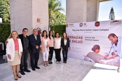 Acerca diputada María Esther jornada de salud a trabajadoras del Congreso