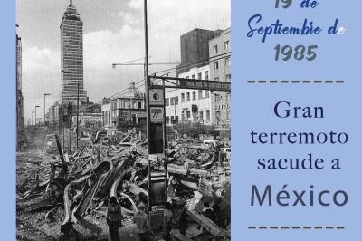 Terremoto sacude a México en 1985