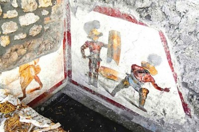 Emerge mural en Pompeya