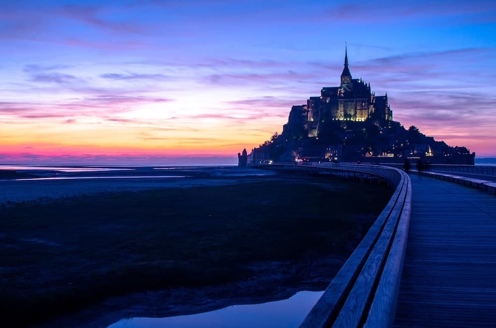 sunset-mont-saint-michel