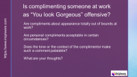 compliments at work