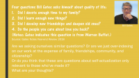 Bill Gates Four Questions to ask yourself