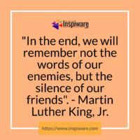 Silence of our Friends: MLK Quote