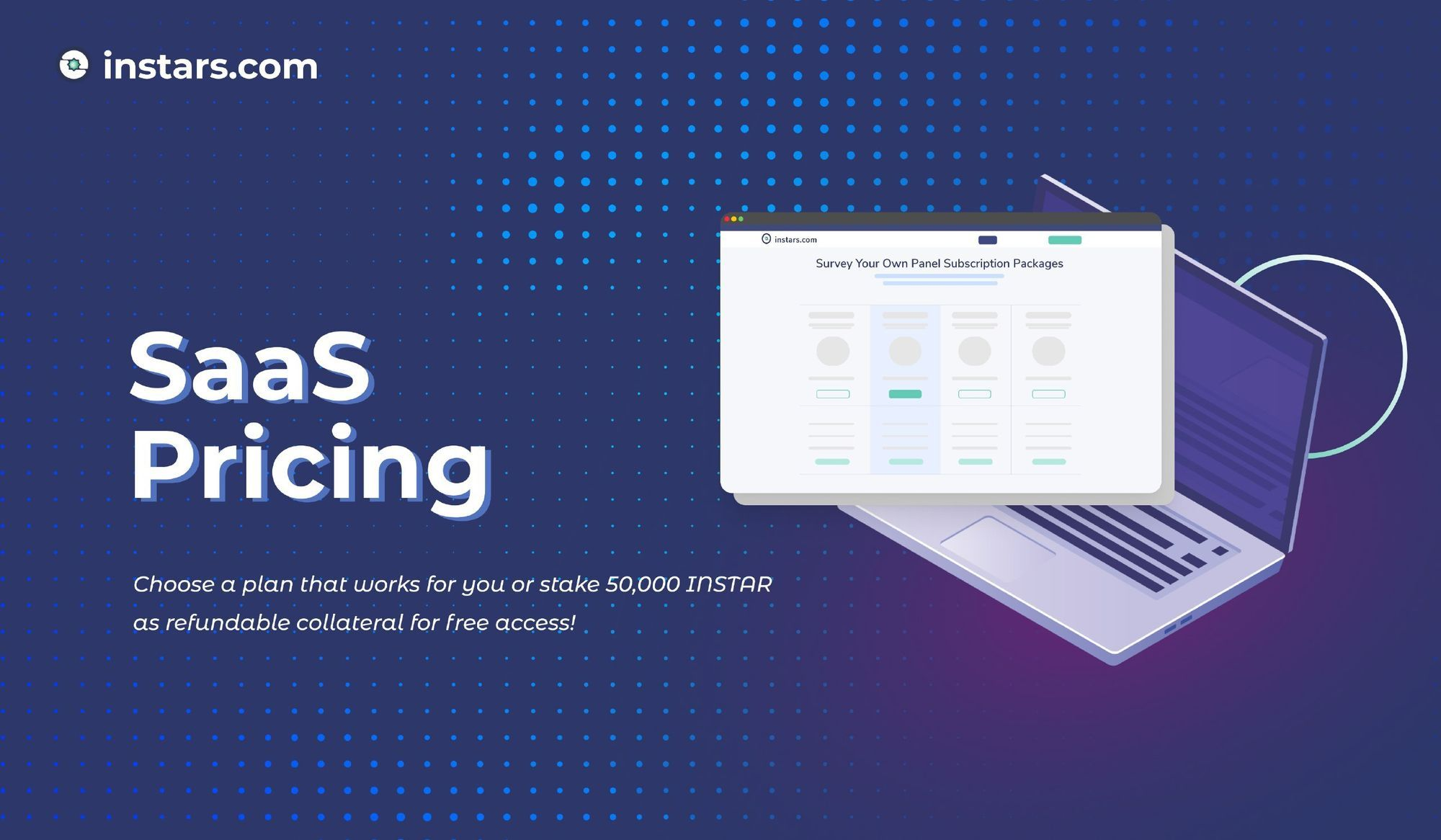Instars Enterprise Survey Builder is Live! Stake For SaaS