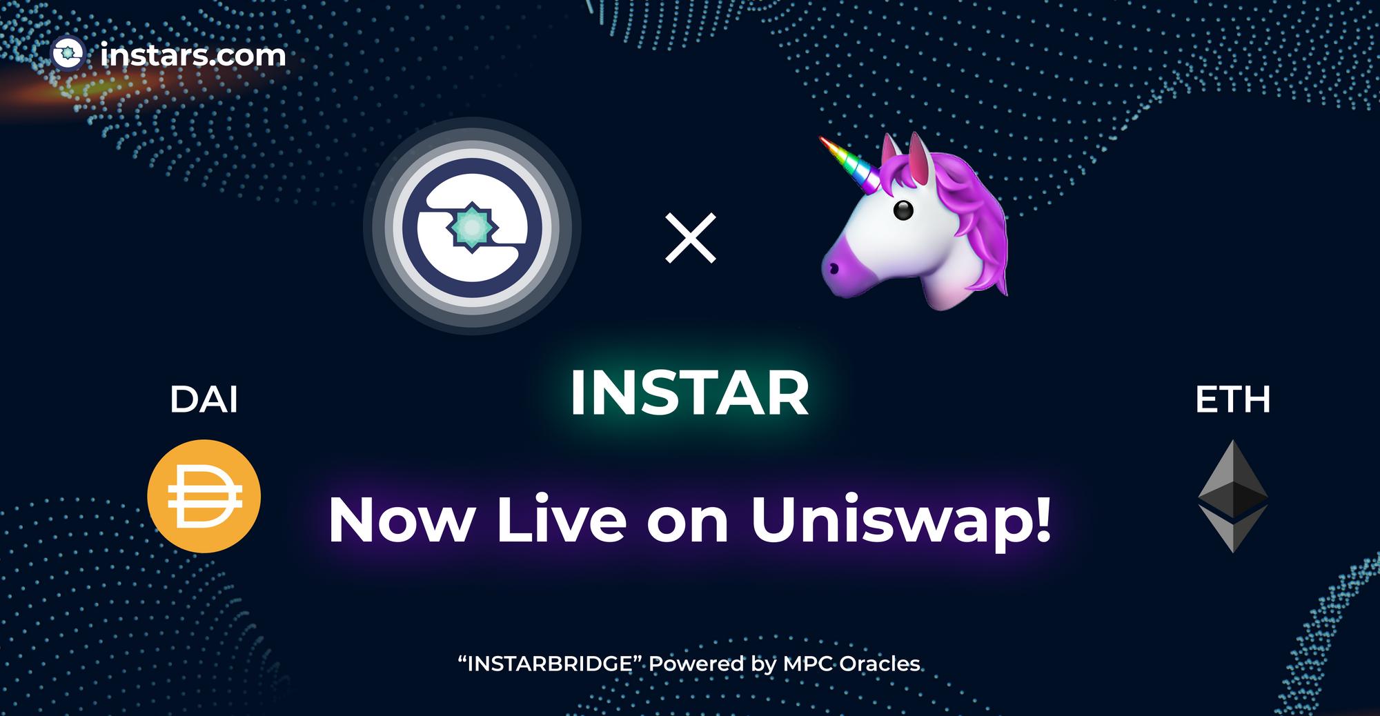 INSTAR Liquidity Pools Are Now Live on Uniswap! 💫