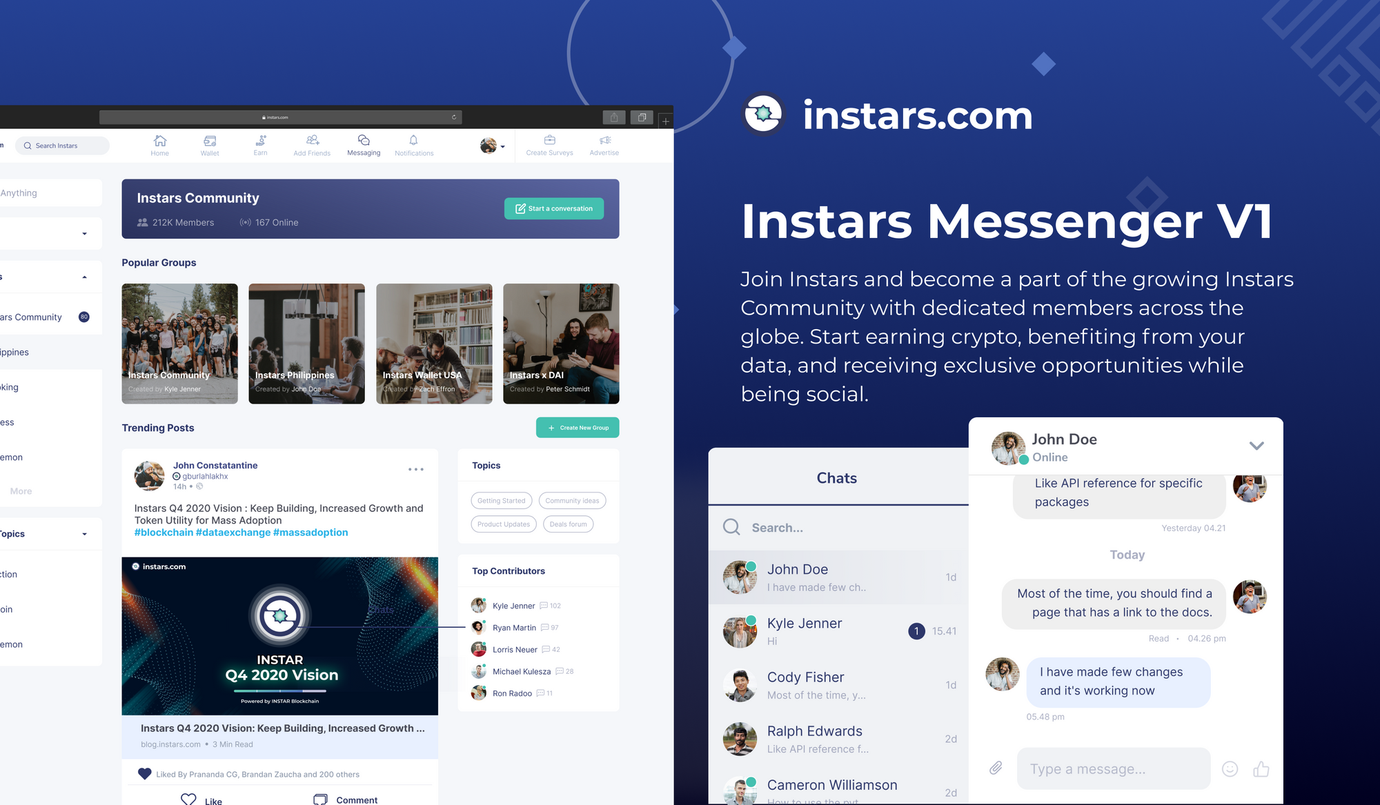 Instars Messenger V1. Final INSTAR/ERC-20 Token Migration Instructions by End of Year! 💫