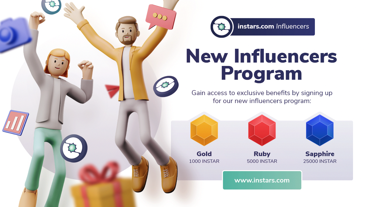 📡 Calling instars.com Influencers: Join Instars New Influencers Program with Instar Token Grants!