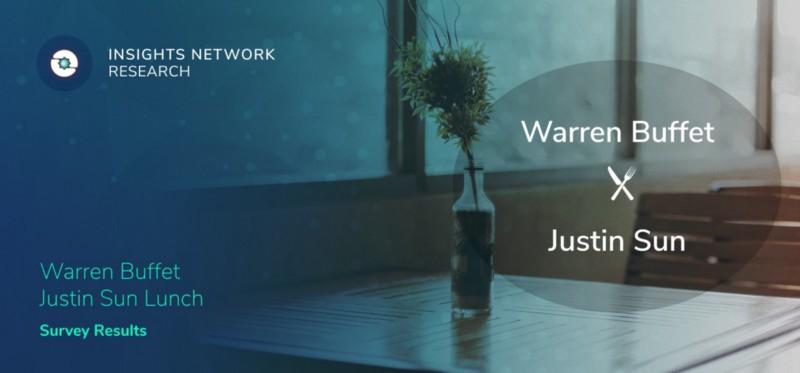 Insights Network Research—Warren Buffett and Justin Sun Lunch Survey