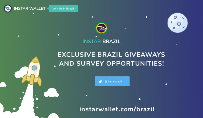 InstarWallet.com launches exclusive opportunities to earn free crypto in Brazil!