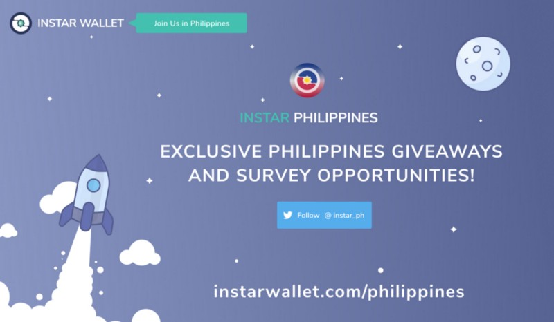 InstarWallet.com launches exclusive opportunities to earn free crypto in The Philippines!