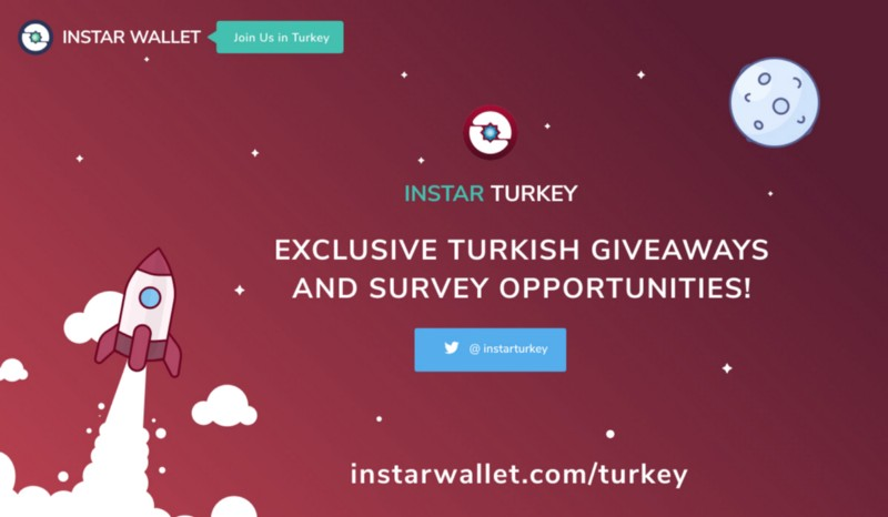 InstarWallet.com launches exclusive opportunities to earn free crypto in Turkey!