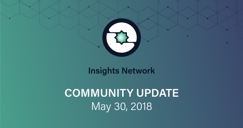 May 30, 2018 Insights Network Community Update