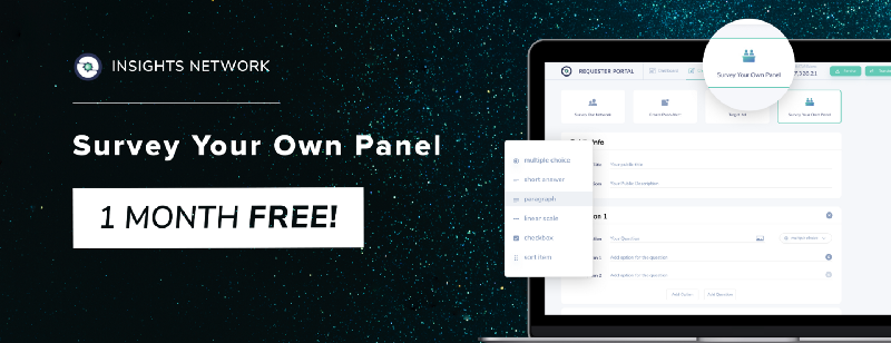 Survey Your Own Panel With InstarWallet For One Month Free!