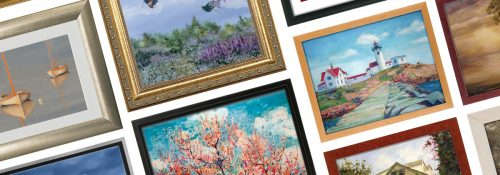 Custom-Framed Pictures with Multiple Images Shown in Collage