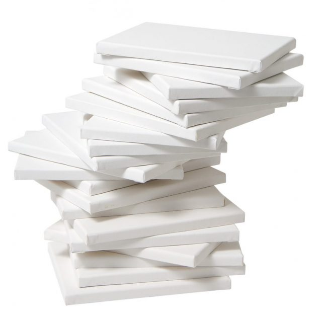 Painting Canvases Stacked in a Pile