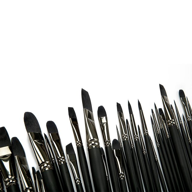 Paint Brushes on Isolated Background
