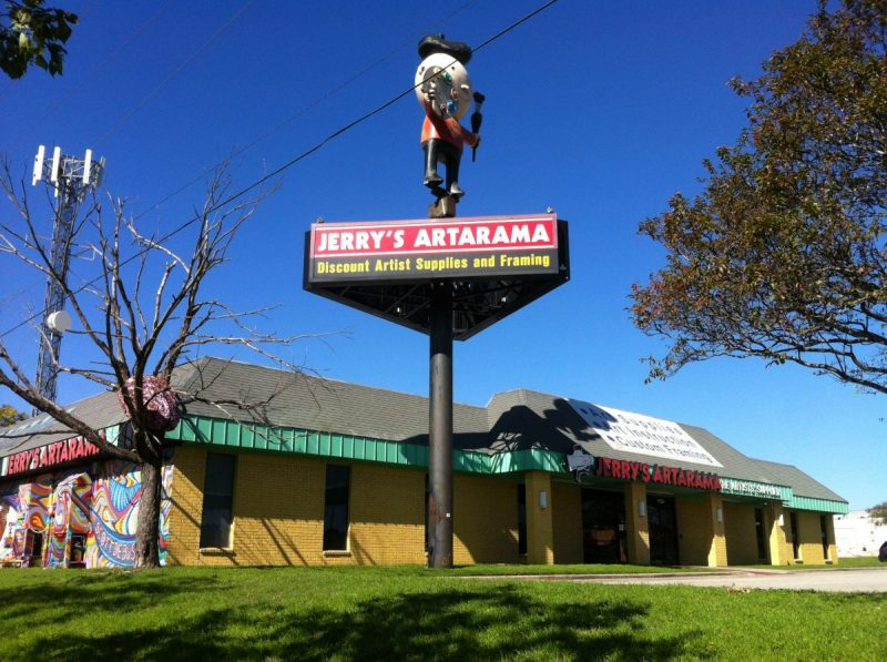 Jerry's Artarama Retail Art Supply Store in Austin, TX