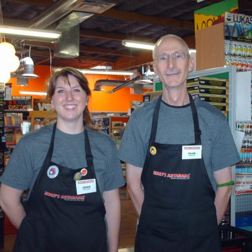 Two Staff Members Inside of Jerry's Artarama Art Supply Store in Tempe, AZ