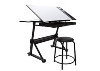 Drawing & Drafting Table with Stool Product Image