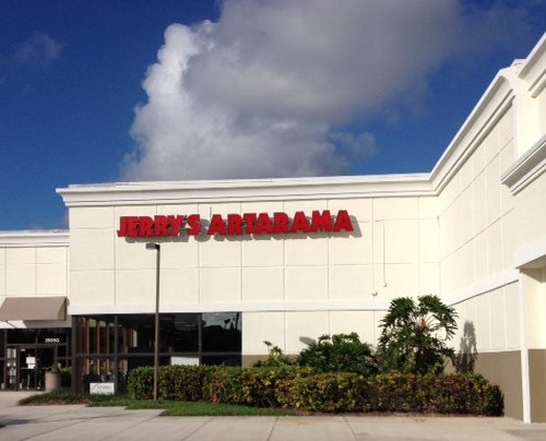 Exterior of Jerry's Artarama Art Supply Store in West Palm Beach, FL