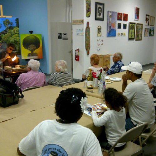 An Art Demo, Class, and Workshop in Jerry's Artarama of West Palm Beach, FL