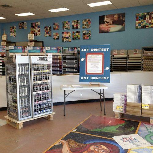 Picture of the Inside of Jerry's Artarama Art Supply Store in Virginia Beach, VA