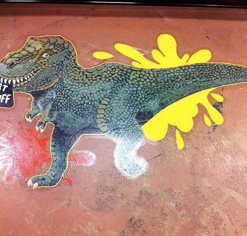 Painting on the Floor of Jerry's Artarama Art Supply Store in Virginia Beach, VA